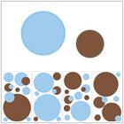 Kropka w kropkę - błękit i brąz - 84,00 zł