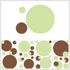 Kropka w kropkę (zieleń i brąz) - 84,00 zł
