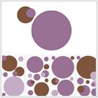 Kropka w kropkę - fiolet i brąz - 84,00 zł