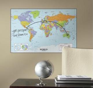 Mapa świata - tablica suchościeralna - 169,00 zł